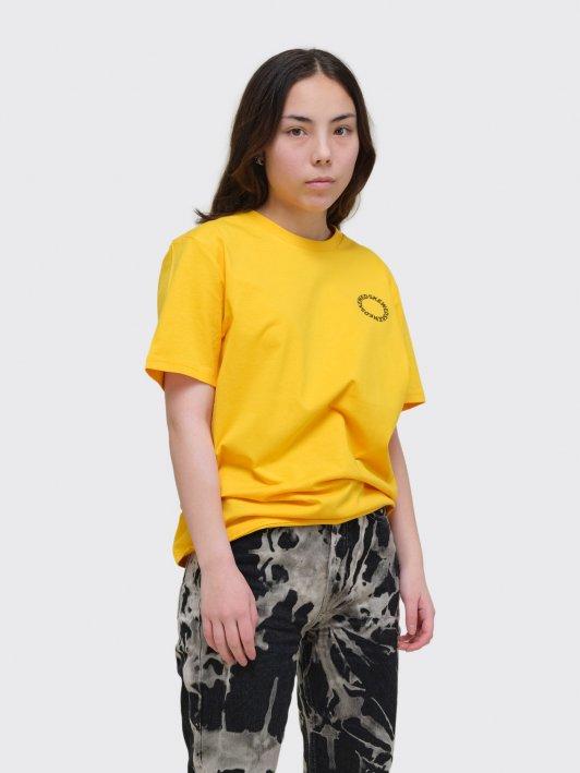 Unisex T-shirt Circle logo heavy organic cotton